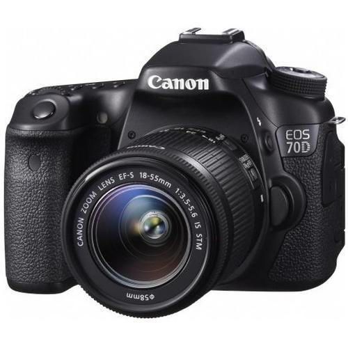 EOS 70D Digital SLR Camera with EF-S 18-55mm IS STM Lens - Black - Digital Camera
