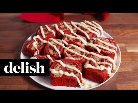 Red Velvet Cinnamon Rolls - Delish.com