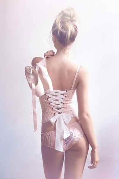 Pink ballet lingerie with ribbon | ~Girly Things~ | Pretty ...