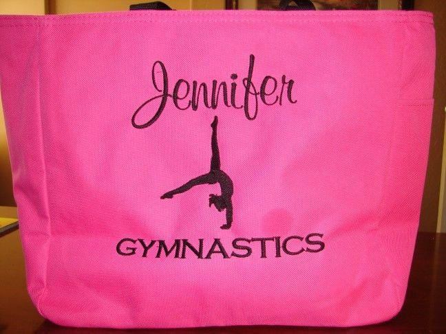 1 TOTE Bag teacher class ADORABLE GIRLY GYMNASTICS School DANCE PERSONALIZE GIFT #PORTCO #TotesShoppers