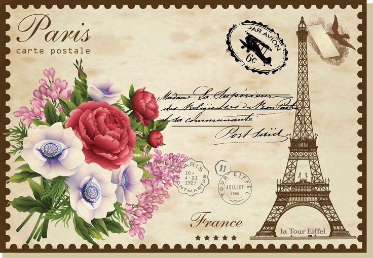 my design/Vintage Post Card/Paris