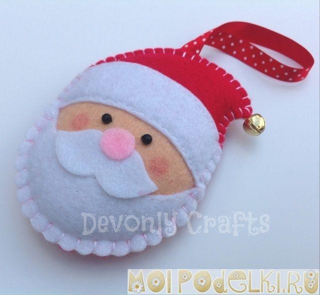 Новогодние игрушки из фетра идеи и выкройки #moipodelki http://moipodelki.ru/article/view/novogodnie_igrushki_iz_fetra_idei_i_vikroyki-214.html