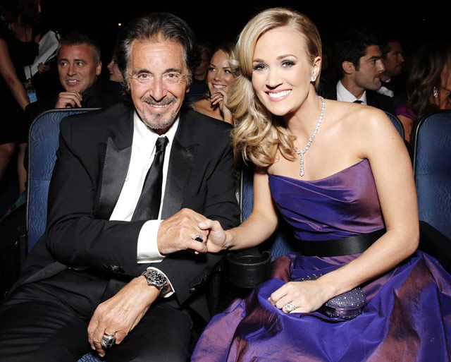 Nominee Al Pacino and performer Carrie Underwood became instant besties the Nokia Theatre in L.A. during the 65th Annual Academy Awards.