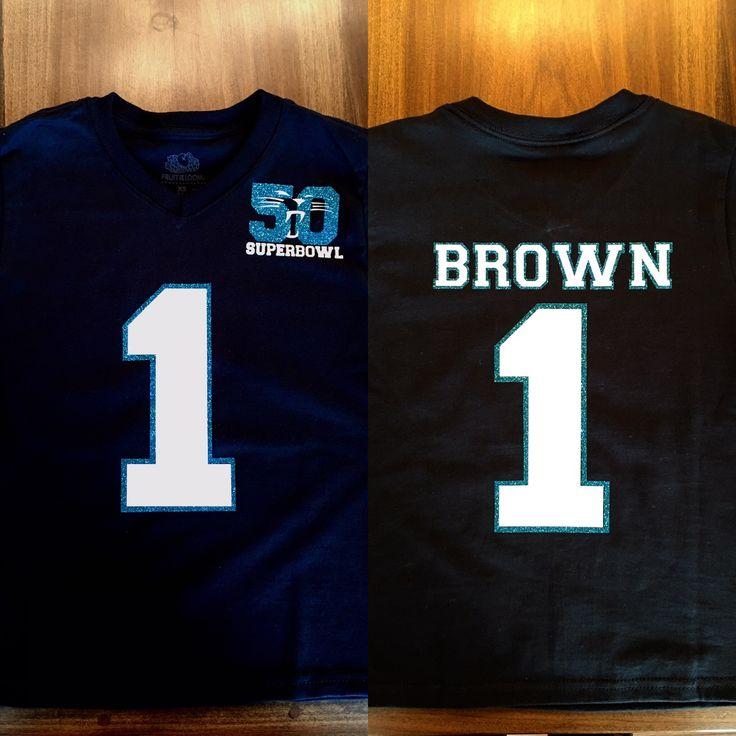Child, kid, toddler, Carolina Panthers shirt jersey, Super Bowl 50, vinyl heat transfer, cam newton, number 1, Panther nation, keep pounding