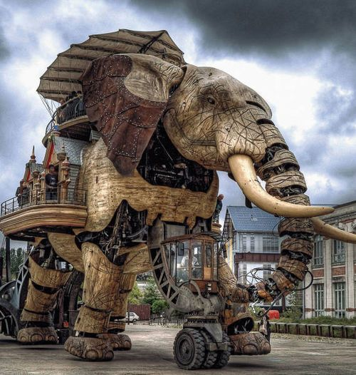 Steampunk Elephant - Les machines de l'île - Nantes, France