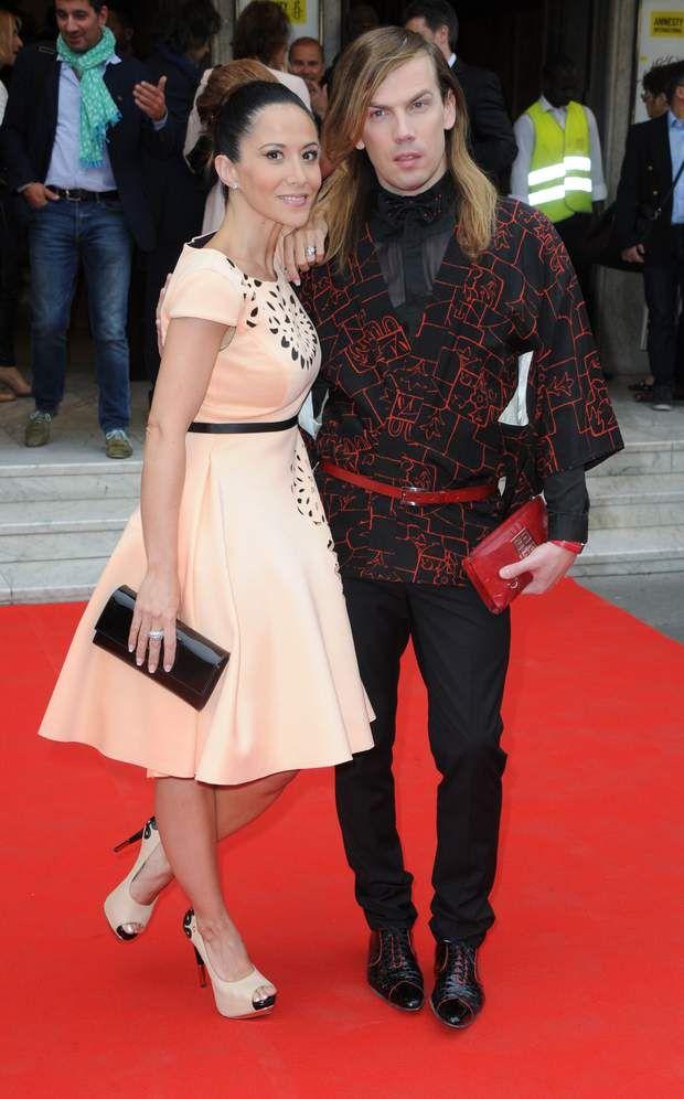 L'actrice et chanteuse Fabienne Carat et le créateur de mode Christophe Guillarme