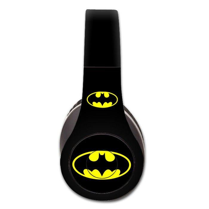 Batman decal for Monster Beats Studio 1.0 wireless headphones