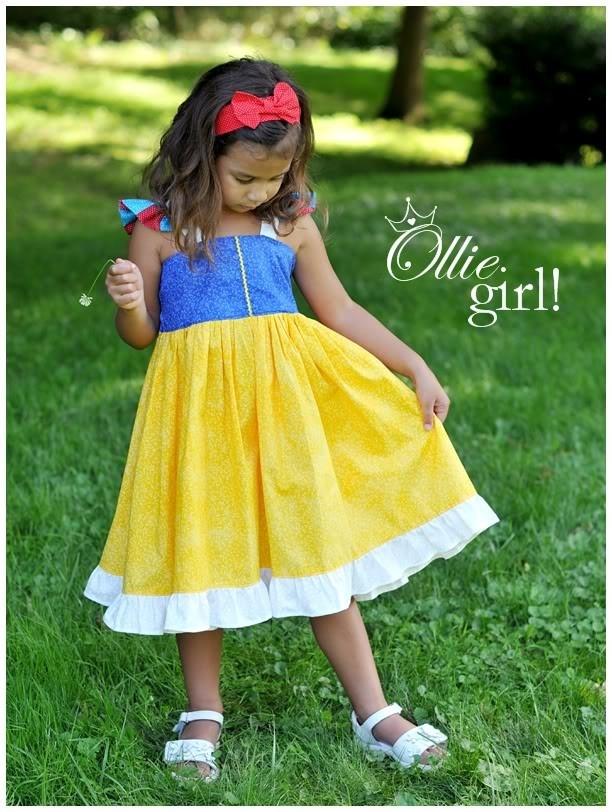 Snow White Simply a Princess Sundress Dress Costume Dress up Boutique Ollie Girl Handmade for Amber