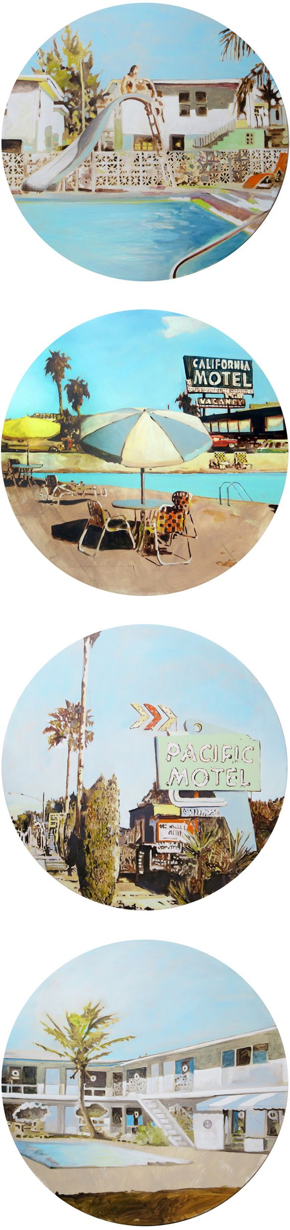 sethsmith on the @jealouscurator   Circles of pools and motels! I can here the summer time music playing in the background.