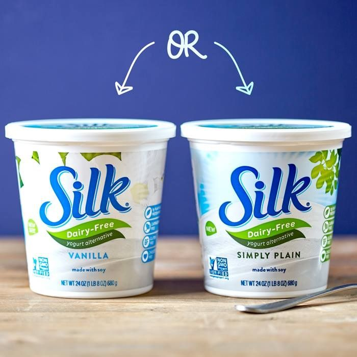 Did you know Silk Dairy Free Yogurt Alternative now offers larger 24-ounce tubs of select varieties, including Simply Plain, which is lower in sugars (7 grams per cup) and has a much less sweet, more versatile flavor profile. Which one would you choose?