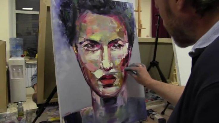 Abstrakt porträt malen für anfänger. Porträt malen lernen mit Sacharow. ...