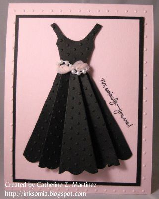 CSCC Presents Breakfast at Tiffany's by tbreanna - Cards and Paper Crafts at Splitcoaststampers LOVE the dress