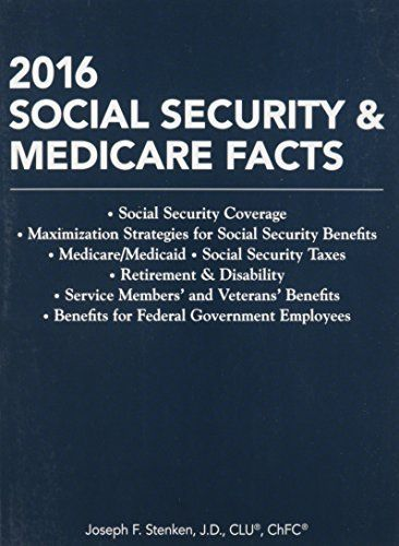 The constantly changing regulatory and legislative environment, coupled with millions of Baby Boomers reaching retirement age, means that retirement planning needs have increased dramatically and retirement planning has become even more complex. And Social Security and Medicare are important... more details available at https://insurance-books.bestselleroutlets.com/casualty/product-review-for-social-security-medicare-facts-2016-social-security-coverage-maximization-strategies