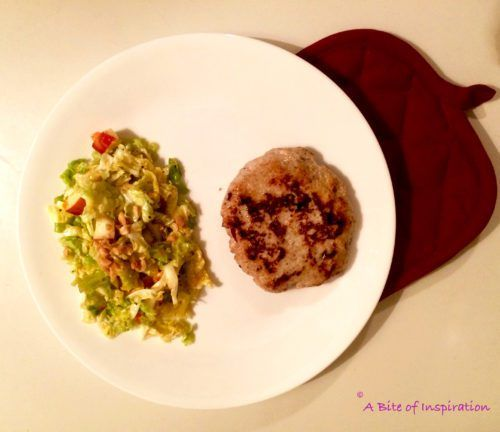 Cranberry Turkey Burgers with Napa Cabbage and Apple Slaw