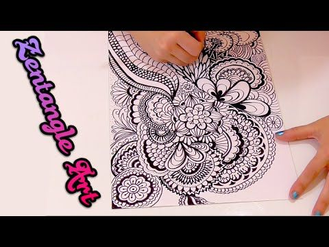 ¿que es Zentangle Art y como se hace? Speed drawing doodle art | Isa ❤️