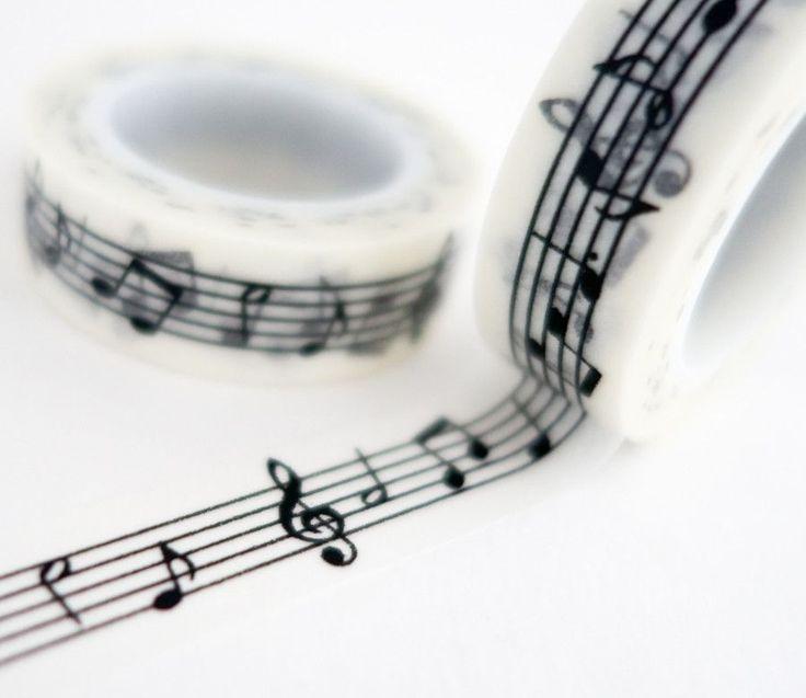 Music Notes Washi Tape