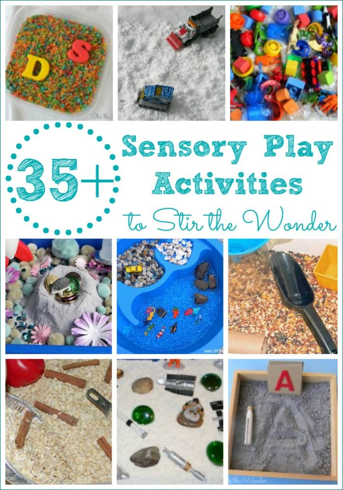 35+ Sensory Play Activities for toddlers and preschoolers! Including book-inspired sensory bins, play dough and slimes!