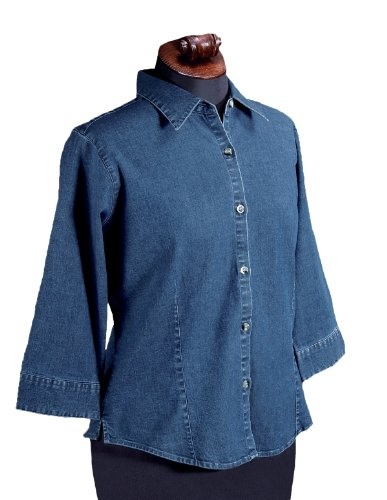 1000 images about womens denim shirts on pinterest for Indigo denim shirt womens
