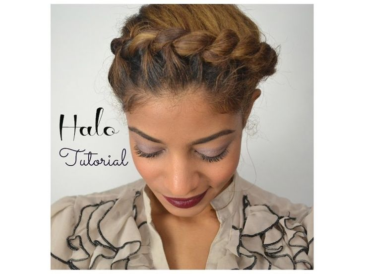 Easy Protective Style or Cute Hairstyle on the go! :) Try this easy-to-do halo braid that can be achieved in less than 10 minutes! Products Used: Shea Butter...