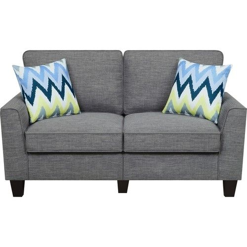 Azure Grey Loveseat Sofa