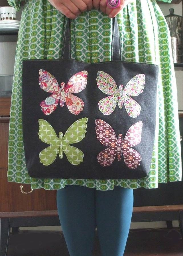 Butterfly applique bag.