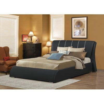 Courtney Upholstered Panel Bed Size: Full, Color: Black - http://delanico.com/beds/courtney-upholstered-panel-bed-size-full-color-black-623927327/