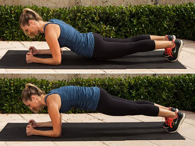 Dipping Plank to build core strength. #workout #abs @Jessica Smith Gomez http://www.ivillage.com/get-relief-back-pain-now/4-a-515186#