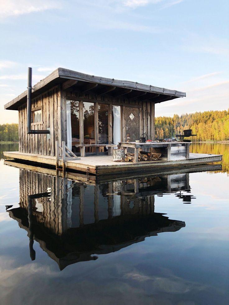 Eine Nacht in einer schwimmenden Kabine in Schweden Die Schlagzeile kaut einen Zahn, um genau zu sein …   – home-dekor