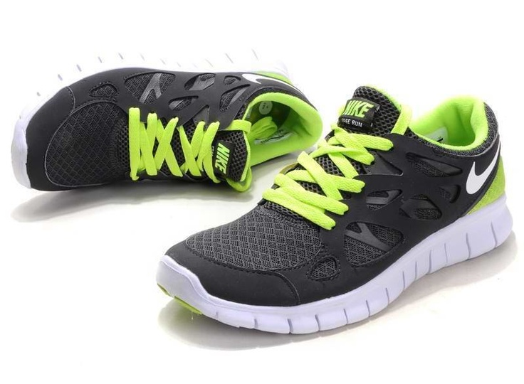 Nike Free Run 2 Womens Dark Gray Green Running Shoes - Click Image to Close