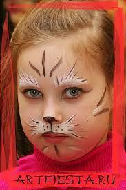 Картинки по запросу рисунки на лице кошка