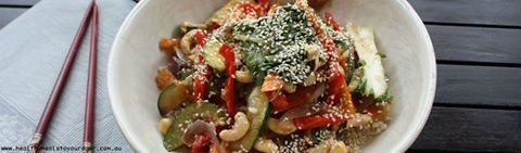 Yum! Cashew & Sesame Vegetarian Stir-fry! Don't forget that we have no contracts and all our meals are designed by a nutritionist. BRISBANE & GOLD COAST.