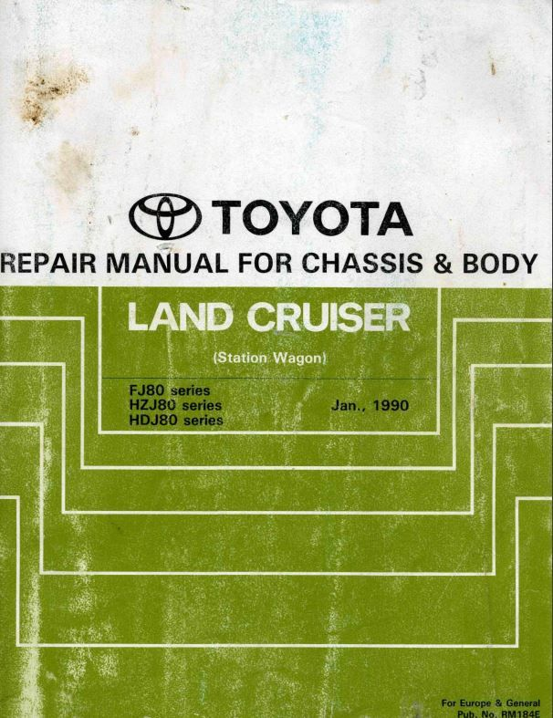 New Post Toyota Land Cruiser Station Wagon 1990 Repair Manual For Chassis Body Rm184e Has Been Publish Toyota Land Cruiser Station Wagon Repair Manuals