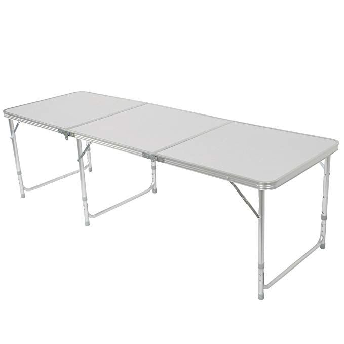 Z Ztdm Aluminum Alloy 3 Fold Camping Table Folding As A Carry Bag Adjustable Height Light Weight Stability Outstanding Length 71 Perfect For Family Reunio Camping Table Folding Table Folding Picnic