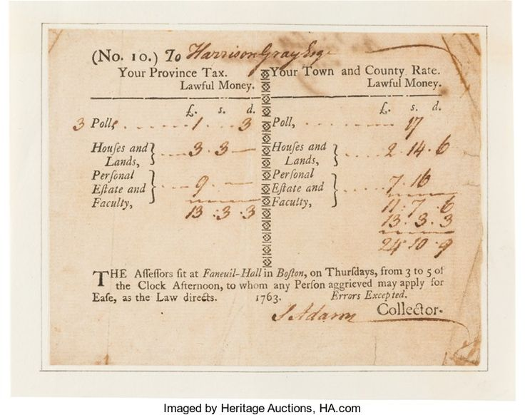Autographs:Statesmen, Samuel Adams the Patriot: Twice-Signed Tax Document....