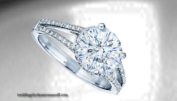 Cz engagement rings white gold