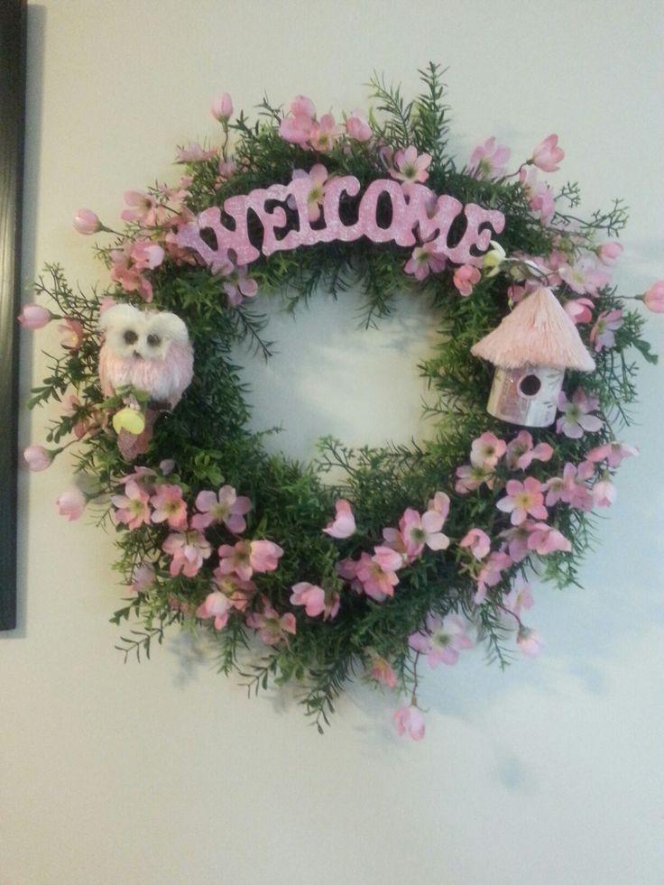 Welcome wreath for any front door.