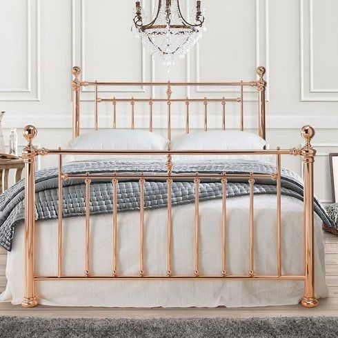 Alexander Rose Gold Bed Frame