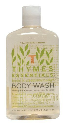 Thymes Body Wash, Essentials, 9.25-Ounce Bottle by Thymes. $11.99. Includes pro-vitamin B5 and glycerin to moisturize. Beautifully packaged to treat yourself, give as a gift or combine with other Thymes products to create a wonderful gift basket. Thymes Essentials has the fragrance of a refreshing Mediterranean blend of Italian tangerine, orange and lemon, red currant, dewy jasmine, petitgrain, cyprus, a touch of sheer musk and sun-drenched grapefruit. 9.25 Ounces of Body Wash th...