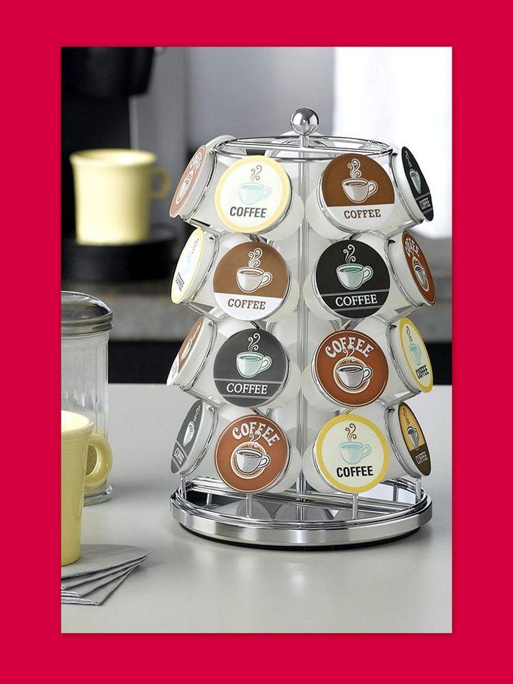 K Cup Holder Carousel 24 Capacity Keurig Coffee Cup Storage Organizer Chrome #NIFTY
