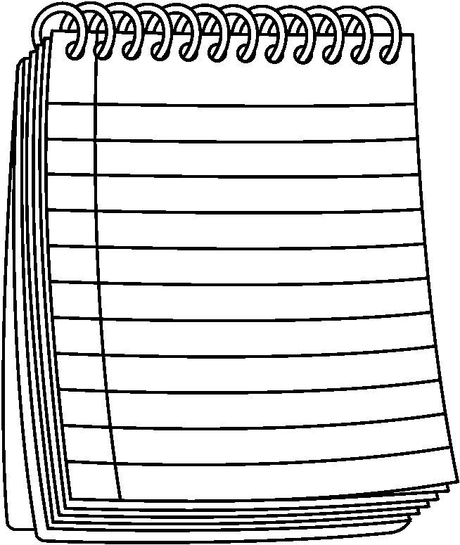 20+ Black And White Notebook Clipart