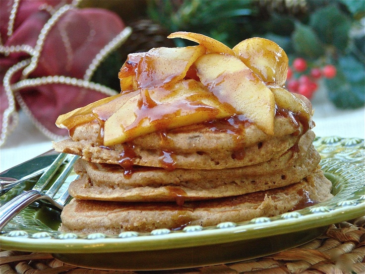 Gingerbread Pancakes with Caramelized Apples...get the recipe on our FB page here: http://www.facebook.com/photo.php?fbid=493553624000081=a.191445990877514.42044.190627940959319=1