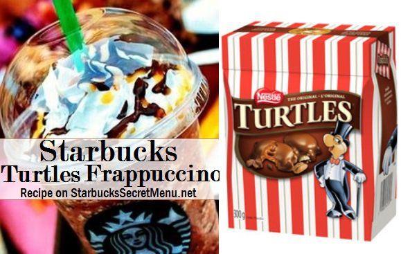 Starbucks Turtle Frappuccino #Starbuckssecretmenu How to order: http://starbuckssecretmenu.net/starbucks-secret-menu-turtles-frappuccino/