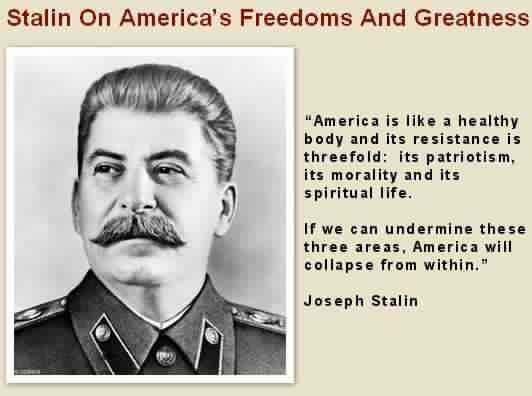 Le parole di Stalin sul continente americano