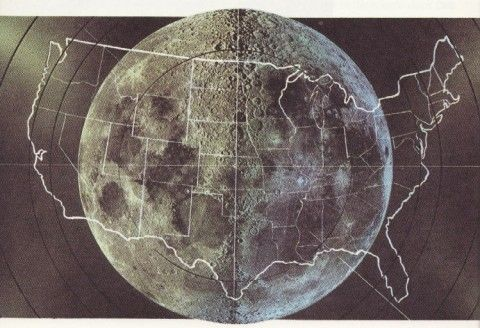How Big is our Moon?  Think of in terms of moon diameter to width/height of continental US.