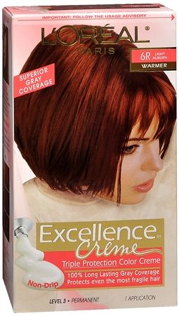 L Oreal Excellence Creme 6r Light Auburn Warmer More