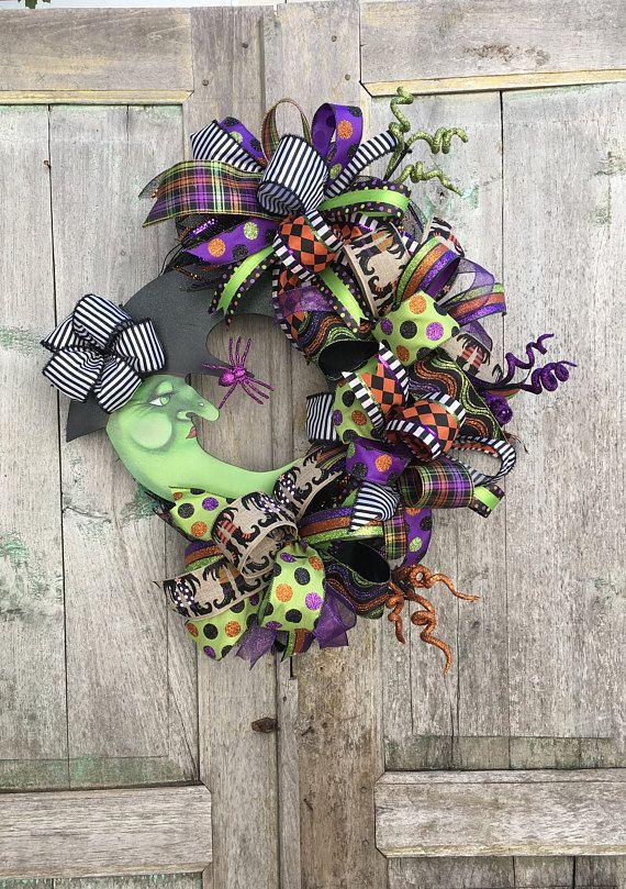 Best 25 Halloween witch wreath ideas on
