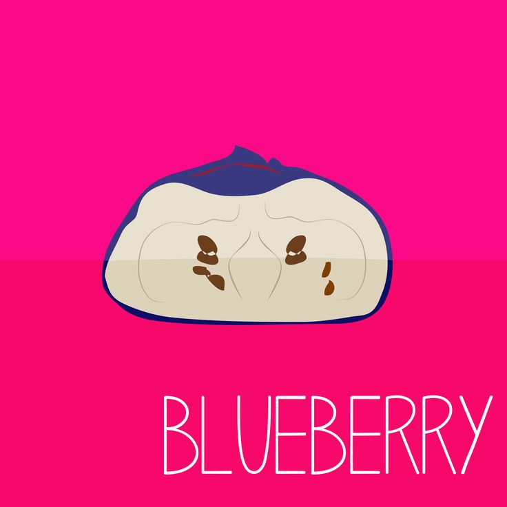 Blueberry EAT YOUR FRUITS Design by Erin Erratic