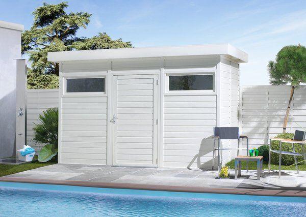 une pool house au style contemporain en sapin du nord massif trait classe 3 a monter sur une. Black Bedroom Furniture Sets. Home Design Ideas