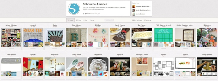 Silhouette Boards on Pinterest -- http://pinterest.com/silhouettepins/ #Silhouette #Cameo