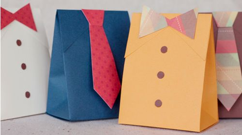 DIY Shirt And Tie Gift Boxes